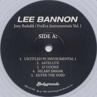 Lee Bannon / Joey Bada$$ - Pro Era Instrumentals Vol. 1 label