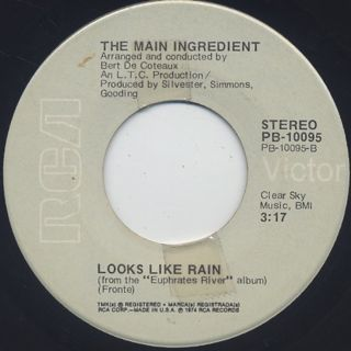 Main Ingredient / California My Way c/w Looks Like Rain back