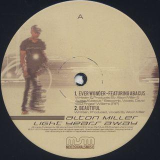 Alton Miller / Light Years Away (2LP) label