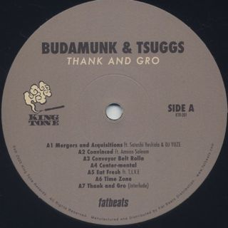 Budamunk & Tsuggs / Thank And Gro label