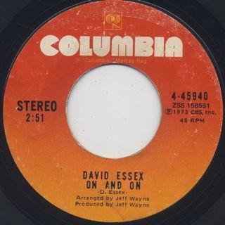 David Essex / Rock On back