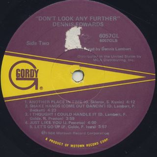 Dennis Edwards / Don't Look Any Further label