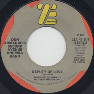 Don Armando's Second Avenue Rhumba Band / Deputy Of Love front