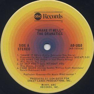 Dramatics / Shake It Well label