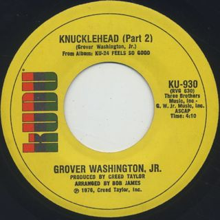 Grover Washington, Jr. / Knucklehead back