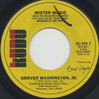 Grover Washington, Jr. / Mister Magic c/w Black Frost ②