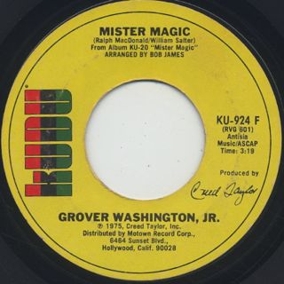 Grover Washington, Jr. / Mister Magic c/w Black Frost