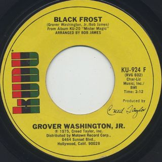 Grover Washington, Jr. / Mister Magic c/w Black Frost back