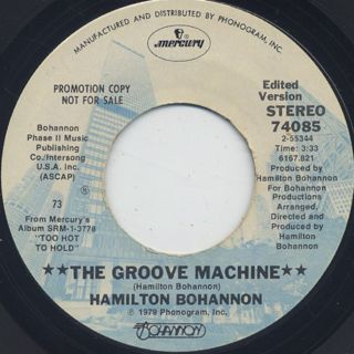 Hamilton Bohannon / The Groove Machine front