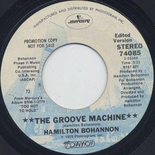 Hamilton Bohannon / The Groove Machine back