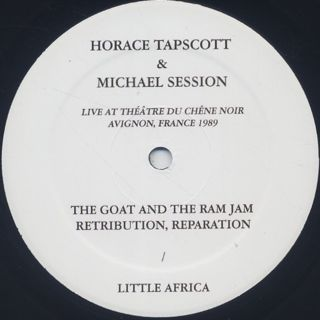 Horace Tapscott and Michael Session / Live in Avignon, France 1989 (Bootleg Edition) back