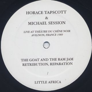 Horace Tapscott and Michael Session / Live in Avignon, France 1989 label