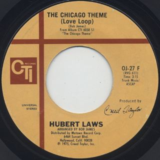 Hubert Laws / The Chicago Theme c/w I Had A Dream