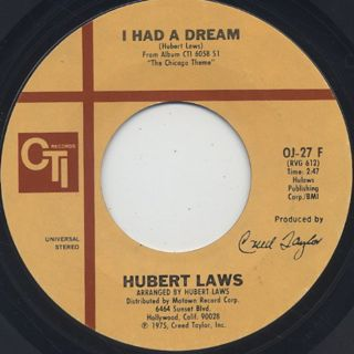 Hubert Laws / The Chicago Theme c/w I Had A Dream back