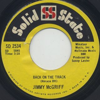 Jimmy McGriff / Chris Cross c/w Back On The Track back