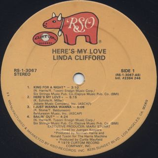 Linda Clifford / Here's My Love label