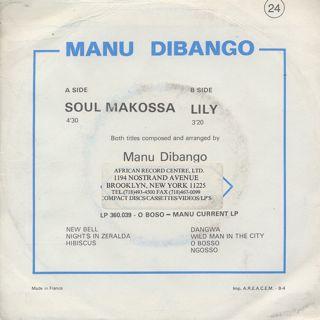 Manu Dibango / Soul Makossa c/w Lily back