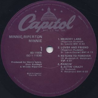 Minni Riperton / Minnie label