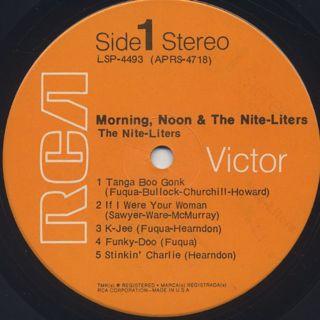 Nite-Liters / Morning Noon & The Nite-Liters label