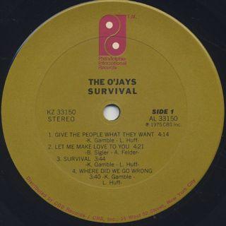O'Jays / Survival label