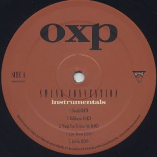 OXP / Swing Convention (Instrumentals) label
