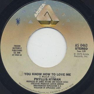 Phyllis Hyman / You Know How To Love Me c/w Give A Little More