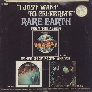 Rare Earth / I Just Want To Celebrate back