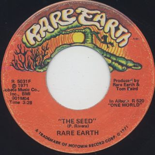Rare Earth / I Just Want To Celebrate label