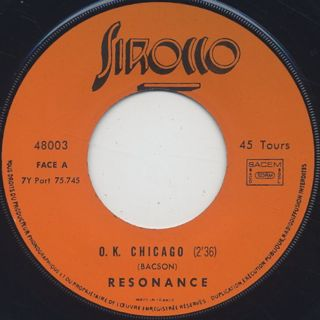 Resonance / O.K. Chicago c/w Yellow Train label