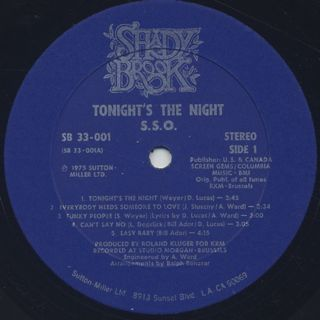 S.S.O. / Tonight's The Night label