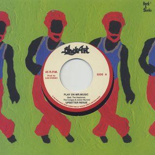 Upsetter Revue / Play On Mr. Music c/w The Silvertones / Rejoice Jah Jah Children (Dub Plate Mix) label