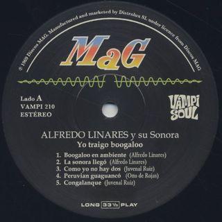 Alfredo Linares Y Su Sonora / Yo Traigo Boogaloo label