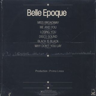Belle Epoque / Miss Broadway back