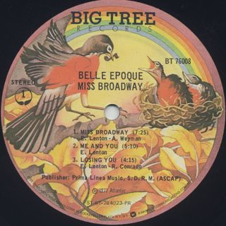 Belle Epoque / Miss Broadway label