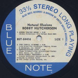 Bobby Hutcherson / Natural Illusions label