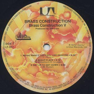 Brass Construction / 5 label