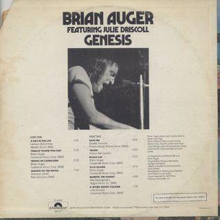 Brian Auger / Genesis back