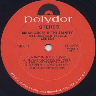Brian Auger / Genesis label
