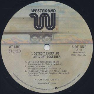 Detroit Emeralds / Let's Get Together label