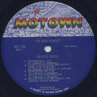Diana Ross / Surrender label