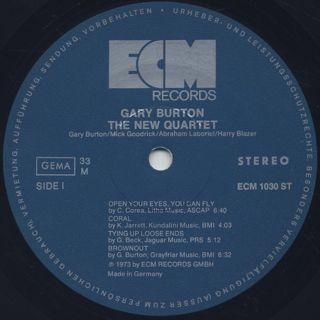 Gary Burton / The New Quartet label