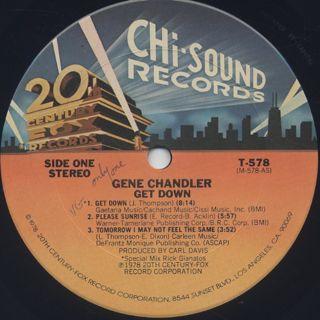 Gene Chandler / Get Down label