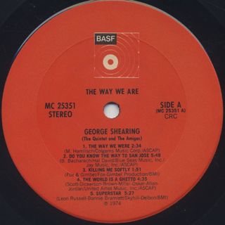 George Shearing / The Way We Are label