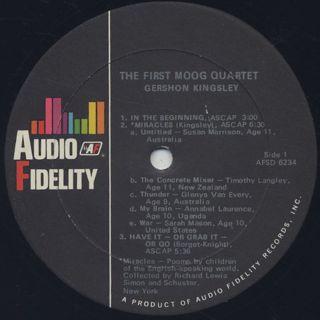 Gershon Kingsley's First Moog Quartet / First Moog Quartet label