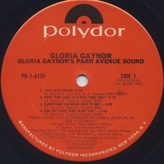 Gloria Gaynor / Gloria Gaynor's Park Avenue Sound label