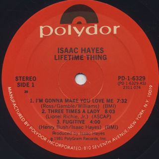 Isaac Hayes / Lifetime Thing label