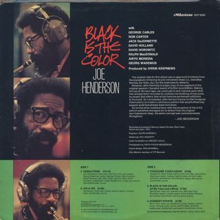 Joe Henderson / Black Is The Color back