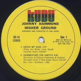 Johnny Hammond / Higher Ground label