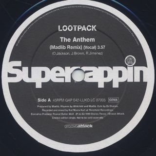 Lootpack / The Anthem (Madlib Remix) front