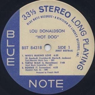 Lou Donaldson / Hot Dog label